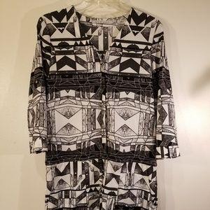 Black-and-white design romper size